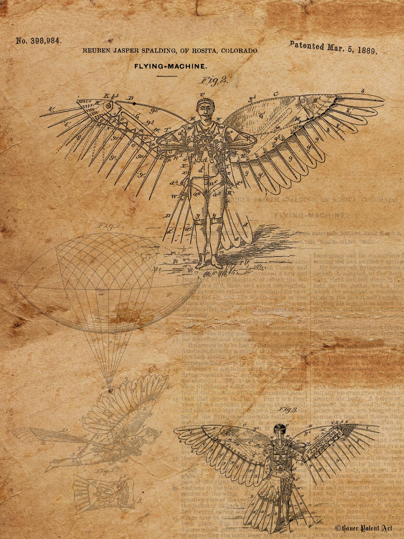 vintage patent drawings artwork