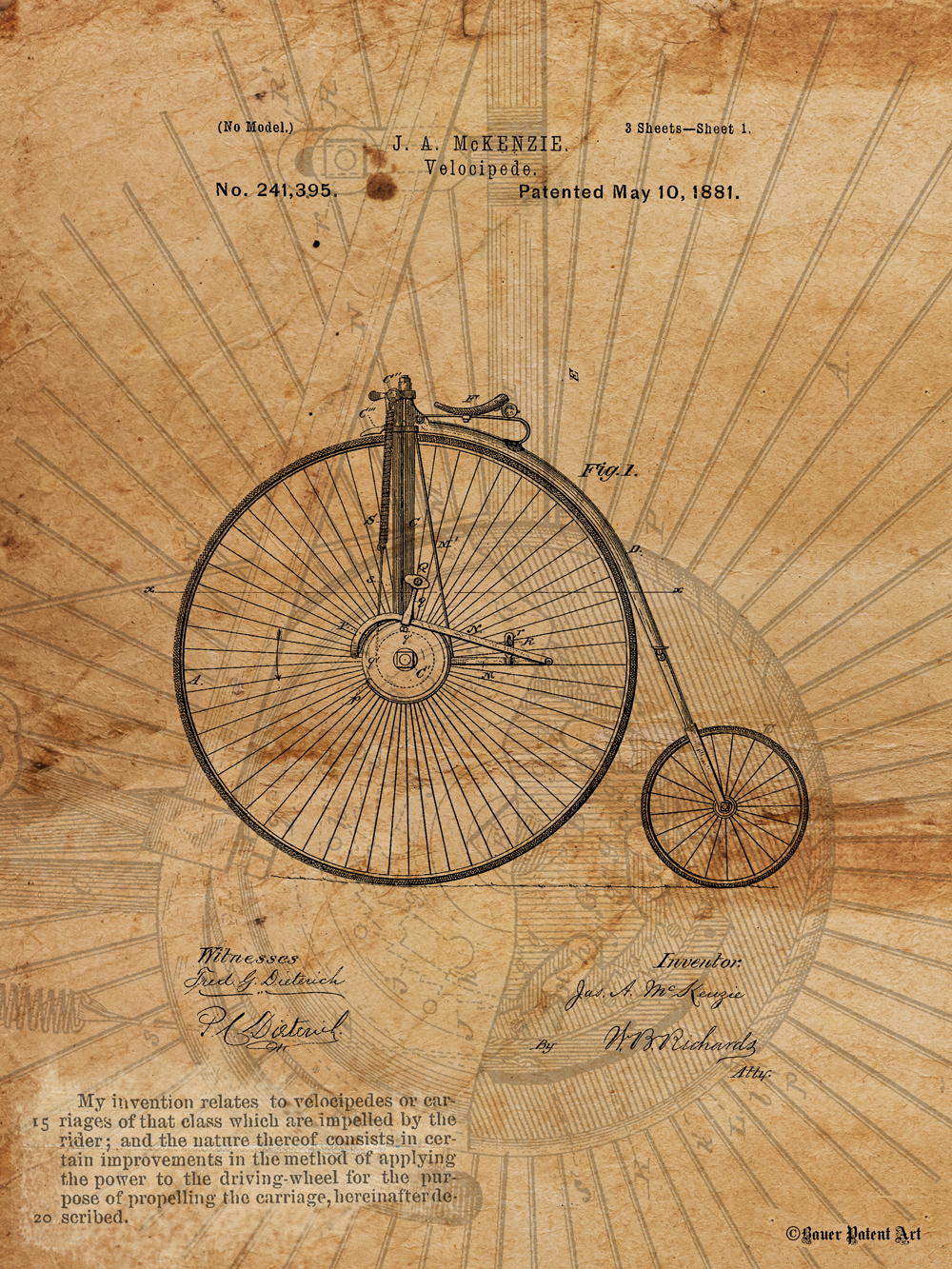vintage patent drawings artwork