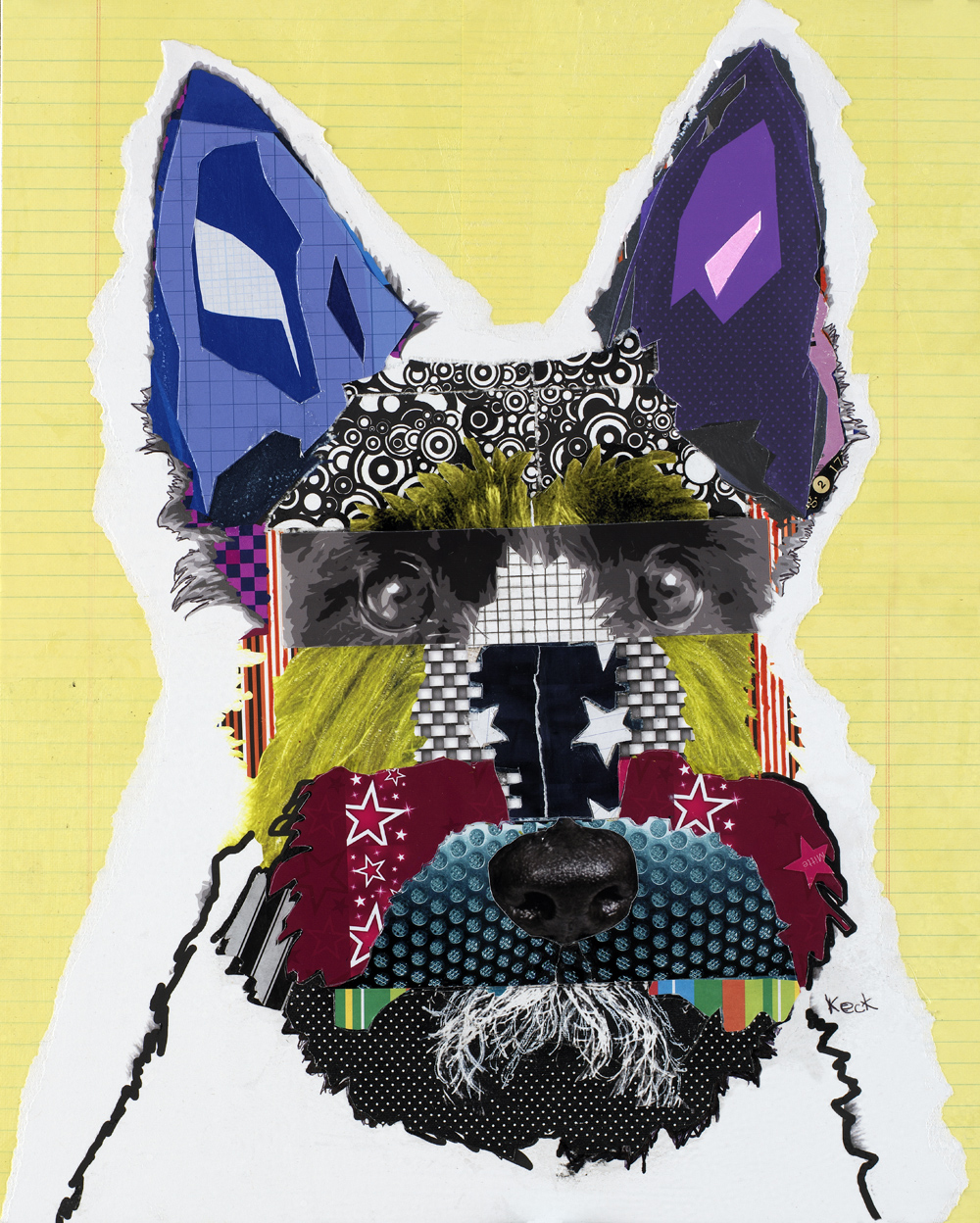 dog art, pop dog art, abstract dog art