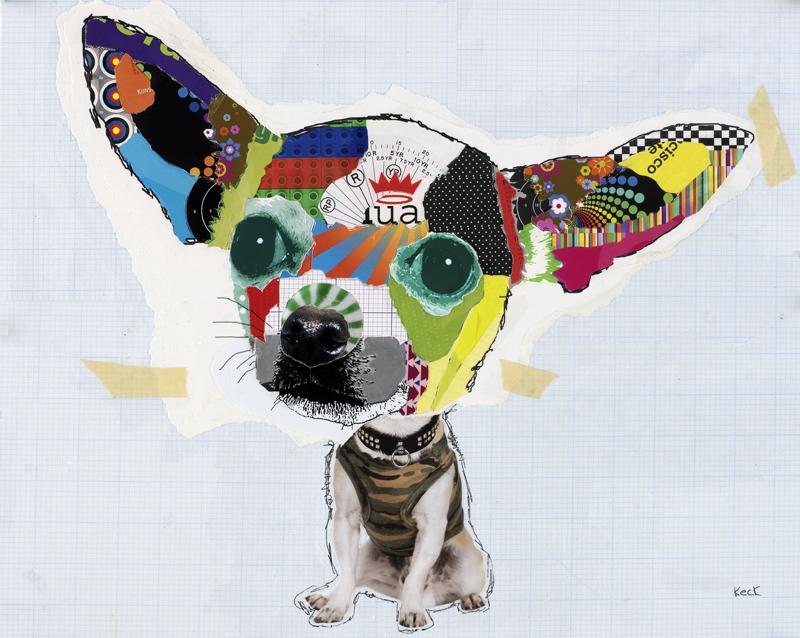 dog art, pop dog art, abstract dog art